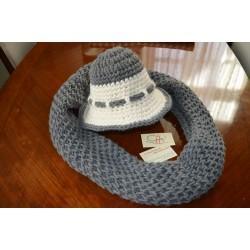 ΑΤΤΑΒΥΡΟΣ-Χειροποίητο πλεκτό καπέλο-Μ