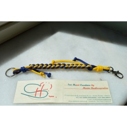 NAUTICAL KEY HOLDER-BLUE-YELLOW-L