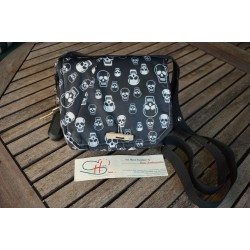 WATERPROOF SHOULDER BAG-Black/Skull-S
