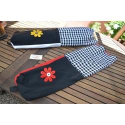 YOGA BAG-BLACK/RED DAISY