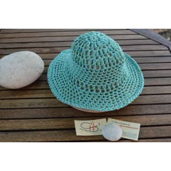 AQUA MARINA-Handmade knitted Hat-M